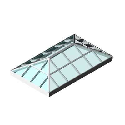 Skylight double hip ridge linelsignature 3d model for Window object