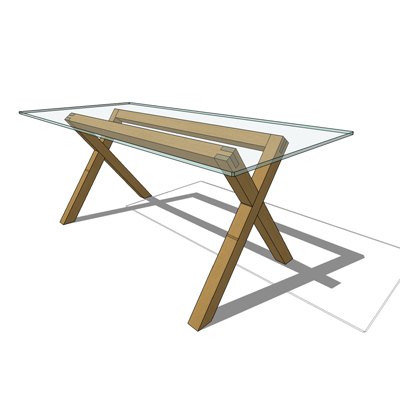 Dublin Glass Topped Table By Habitat Solid Oak Le