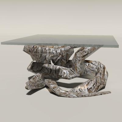 Driftwood Table 3d Model Formfonts 3d Models Amp Textures