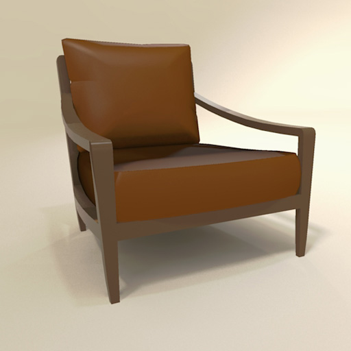 340 Low Lounge Chair 3D Model FormFonts 3D Models & Textures