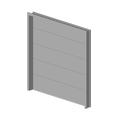 Overhead Sectional Garage Door 3D Model