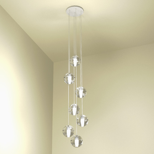 Hanging Ceiling Light 3d Autocad Model: Bocci 14 Pendant Light 3D Model