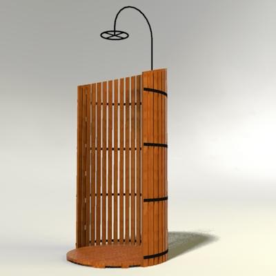 Shower Model outdoor shower 3d model - formfonts 3d models & textures