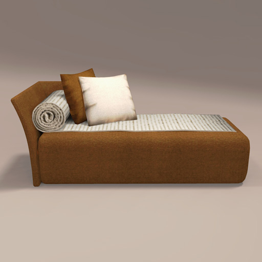 Perfect Spiral Chaise By John Saladino 3D Model