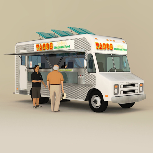 Catering truck 3d model formfonts 3d models textures for Food truck design app