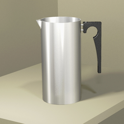 A classic 1960s stainless steel 
