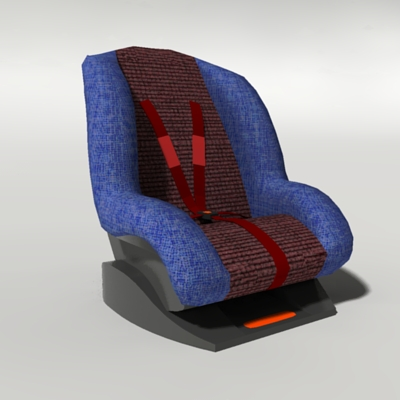 infant car seats 3d model formfonts 3d models textures. Black Bedroom Furniture Sets. Home Design Ideas