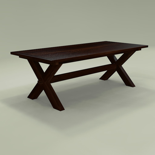 Toscana Dining Table 3D Model  FormFonts 3D Models & Textures -> Model Table Tele