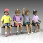Replacement figures for earlier seated kids, kid01...