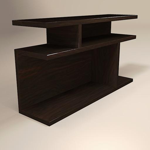 west elm bookshelf side table 3d model formfonts 3d