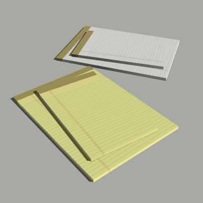 Here is a set of writing pads and sticky pads..