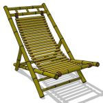 Foldable bamboo outdoor chair