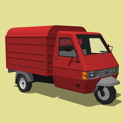 Modern Vespa Vespa Ape Description: This is the Piaggio APE 703 Pick Up and Panel Van.