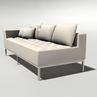 Carter Sectional 3d Model Formfonts 3d Models Textures