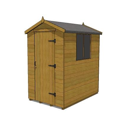 6 x 10 shed plans sketchup models most popular plans guide for Little storage sheds