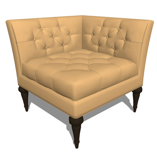 Luxe Home Corner Chair 3D Model - FormFonts 3D Models & Textures