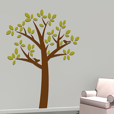 A couple of tree wall decals..