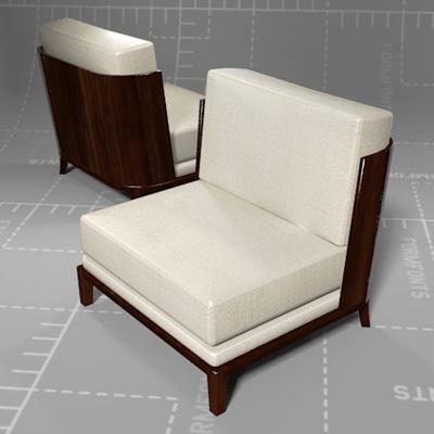Holly Hunt Aspre Club Chair.
