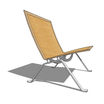 PK22 easy chair in wicker by Fritz Hansen, designe....