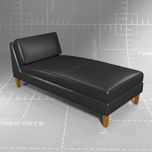 IKEA Karlstad Chaise Lounge 3D Model FormFonts 3D Models & Textures