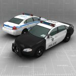 Low Poly model of a Chevrolet 