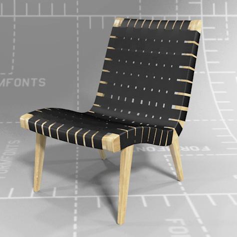 Knoll Risom Lounge Chair 3D Model