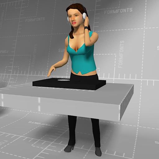 Female Djs 3d Model Formfonts 3d Models Amp Textures