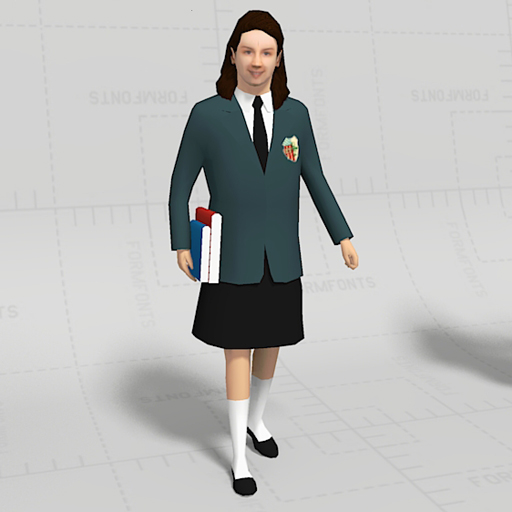 Modern Classroom Model ~ Students in uniform d model formfonts models