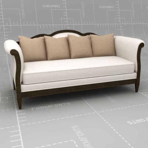 Duralee Monaco Sofa 3d Model Formfonts 3d Models Textures