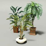 2D billboard plants in a 3D pot, so that they will...