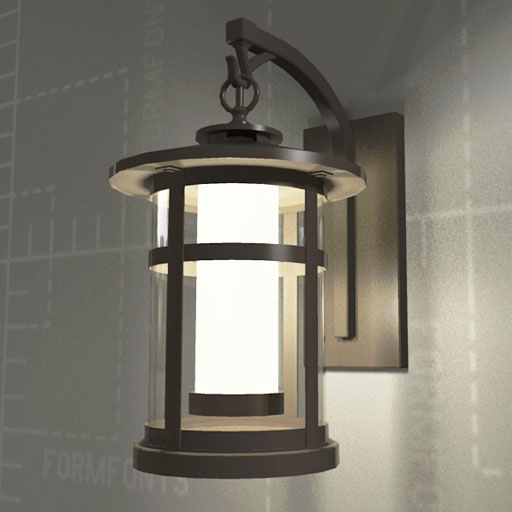 Wall Light Revit Model : Rutherford Sconce 3D Model - FormFonts 3D Models & Textures