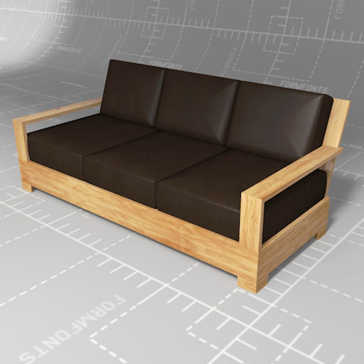 Restoration Hardware Sofa Collection: FormFonts 3D Models & Textures