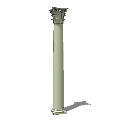 A set of matched, 20ft Corinthian columns...round,....