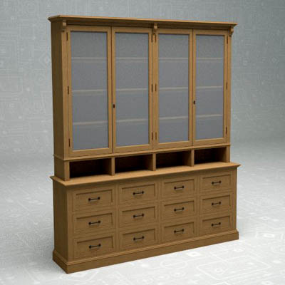 Apothecary display cabinet from Restoration Hardwa....
