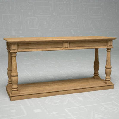 Distressed Rectory Console Table By Restoration Ha.