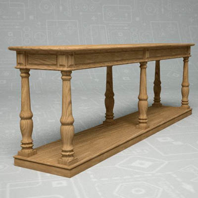 Restoration Hardware Alsace Studio Console Table Reclaimed Wood Original Factory Distressed Finish In Excellent Pre Owned Furniture Condition