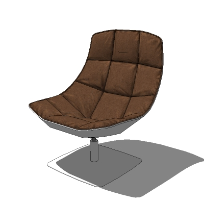 Jehs Laub Lounge Chair In A Choice Of 4 Leathers.
