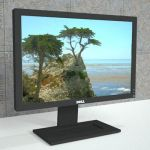 "Dell and HP 19"" widescreen monitors."