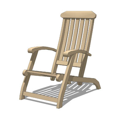 Folding Wooden Garden Chair For Relaxing With A Dr