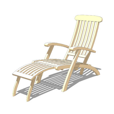 Wooden garden lounger, take it easy after a stress....