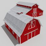 Two generic barns, small and 