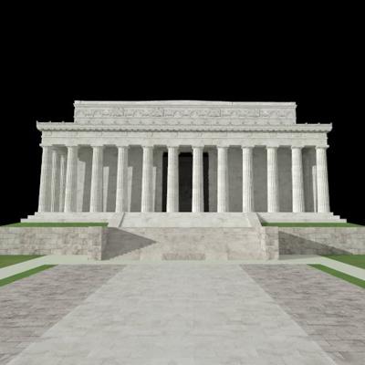 Lincoln Memorial 3d Model Formfonts 3d Models Amp Textures