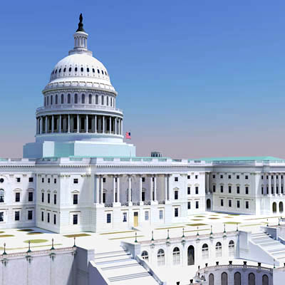 3D Polygonal Model of the United State Capitol Building