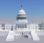 US Capitol Building in Google Earth, geo-located s...