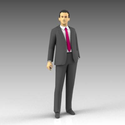 Sample of typical low-poly male 