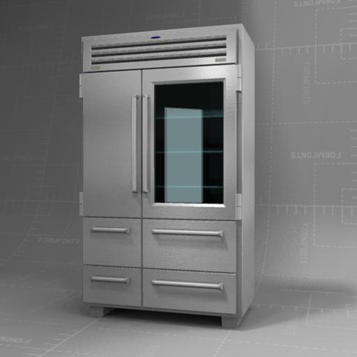 sub zero 48 refrigerator 3d model formfonts 3d models. Black Bedroom Furniture Sets. Home Design Ideas
