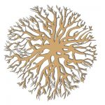 CAD style tree plan, raised slightly off ground le...