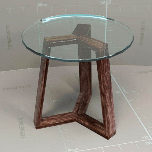 WEst Elm Ion Glass Round Tables. Revit Version Add..