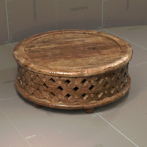 Westelm Carvedwood Table 3d Model Formfonts 3d Models