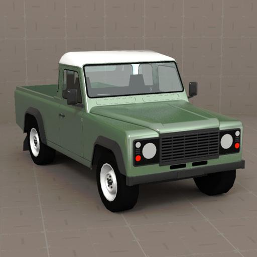 LandRover Defender Pickup 3D Model
